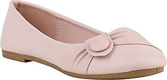 Klassische Damen Ballerinas Modische Flats Knopf Nieten Snake Denim Ballerina Spitze Schleifen Schuhe 141411 Rosa Knopf 39 Flandell Stiefelparadies kq4Zo76