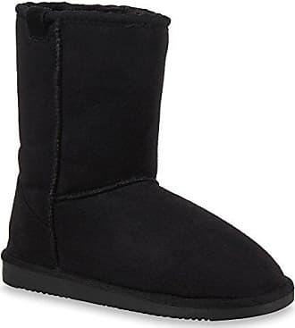 Warm Gefütterte Boots Damen Stiefeletten Schleifen Bommel Kunstfell Schlupfstiefel Schlupfstiefeletten Schuhe 28712 Schwarz Schwarz 36 Flandell Stiefelparadies aa0H62K8WQ