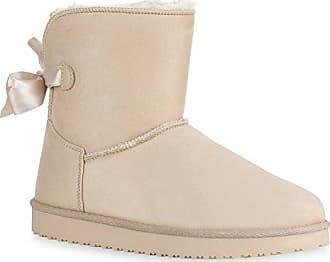 Warm Gefütterte Damen Schuhe Stiefeletten Schlupfstiefel Boots Schleifen 128600 Creme Berkley 39 Flandell Stiefelparadies jyfteSmD7n