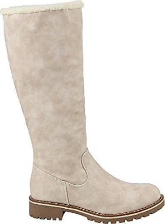 Warm Gefütterte Damen Winterstiefel Kunstfell Stiefel Profilsohle Schuhe 109821 Taupe Bömmel 36 Flandell caKmFu