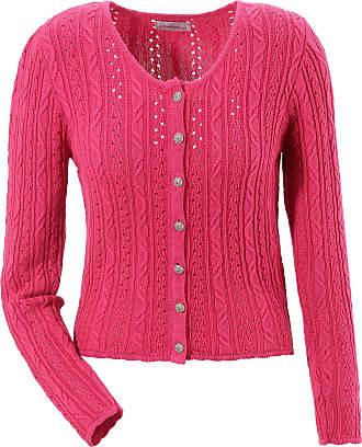 Damen Trachtenstrickjacke Damen in kurzer Form, rose Stockerpoint