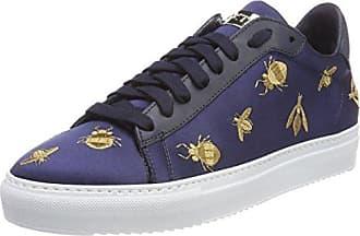 Sneaker, Zapatillas para Mujer, Multicolor (White/Navy/Gold), 38 EU Stokton