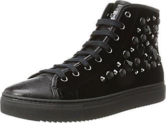 Sneaker a Collo Alto Donna, Nero (Nero/Silver), 40 EU Stokton
