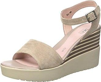 Sweet III 8 Patent, Zapatos con Tacon y Correa de Tobillo para Mujer, Rojo (Aurora Red 600), 39 EU Stonefly