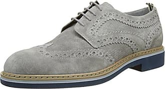 Space Man 3 Nubuk, Zapatos de Cordones Derby para Hombre, Azul (Mood Indigo 124), 40 EU Stonefly