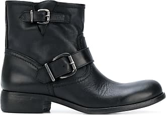 Boots for Women, Booties On Sale, Carbon, Leather, 2017, 3.5 4.5 Strategia
