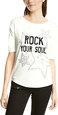 311426, T-Shirt Femme, Blanc (Off White 10108), 40 (Taille du Fabricant: 38)Street One