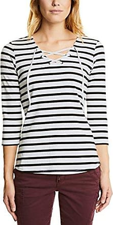 Street One 311980, Camiseta de Manga Larga para Mujer, Multicolor (Black 20001), 44