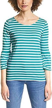 Street One 312038, Camiseta de Manga Larga para Mujer, Multicolor (Hibiscus Red 21346), 44 (Talla del Fabricante: 42)