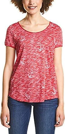 Street One 312292, Camiseta para Mujer, Multicolor (Hibiscus Red 21346), 42(Talla del Fabricante: 40)