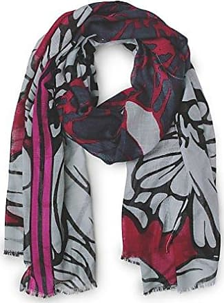 Womens Floral Printed Long Scarf on Structured Quality, 100x180cm Trilby Hat, Rosa (Funky Pink 31019), One Size Street One