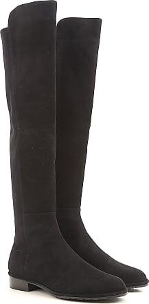Boots for Women, Booties On Sale, Black, Leather, 2017, 4 Stuart Weitzman