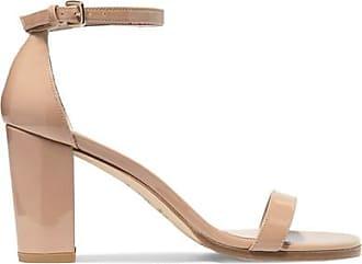 Stuart Weitzman Woman Access Pebbled-leather Sandals Size 38.5 Q4xxj