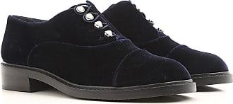 Zapatos con Cordones para Mujer, Oxfords, Zapatos Calados Baratos en Rebajas, Burdeos, Terciopelo, 2017, 36 Stuart Weitzman