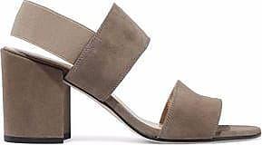 Stuart Weitzman Woman Access Pebbled-leather Sandals Mushroom Size 39.5