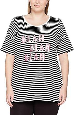 STUDIO UNTOLD Gestreiftes Shirt Mit Frontprint, Camiseta de Manga Larga para Mujer, Multicolor (Multicolor 90), 52