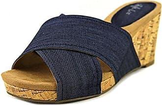 Frauen jillee Offener Zeh Leger Leinen Platform Sandalen Blau Groesse 8.5 US/39.5 EU Style & Co. IoEfujTi