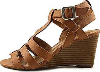 Style & Co. Frauen Offener Zeh Leger Sandalen mit Keilabsatz Groesse 8 US/39 EU HiU0VR