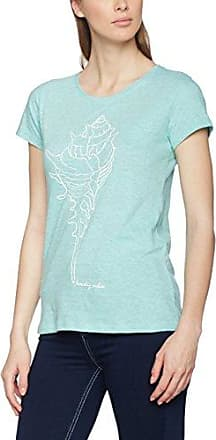 Esprit 017ei1k008-E-Dry T-Shirt, Camisa de Deporte para Mujer, Azul (Turquoise 470), 36 (Talla del Fabricante: Small)