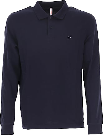 Camiseta de Hombre Baratos en Rebajas, Azul Marina, Algodon, 2017, L S XXL Sun 68