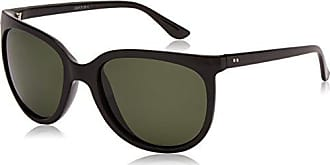 Sunoptic Damen Sonnenbrille Oversized - Schwarz - Black/Green - Einheitsgröße Uzjo6