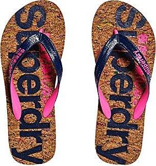 Superdry AOP Flip Flop, Chanclas para Mujer, Multicolor (Fluro Coral Animal SP3), 35/37 EU