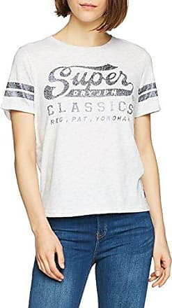 Superdry Sequin Team Comets, Camiseta para Mujer, Bianco (White Heathered), 36 (Fabricante: XS)