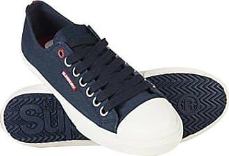 Sleek Low Premium, Zapatillas de Gimnasia para Hombre, Negro (Black/Dark Charcoal), 43 EU Superdry