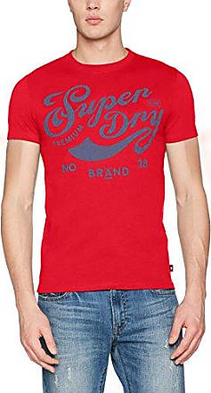 M10001TPF3, Camiseta para Hombre, Rosso (Dry Red), Medium Superdry