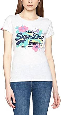 Superdry Vintage State Entry tee, Camiseta para Mujer, Gris (Ice Marl 54G), Medium