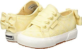 Superga 2750-Grossgrainflockedotsj, Zapatillas para Niñas, Multicolor (Cream-Bordeaux Dots F93), 30 EU