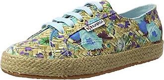2790-Fabricfanplropew, Zapatillas de Estar por Casa para Mujer, Multicolor (Green Spring C92), 40 EU Superga