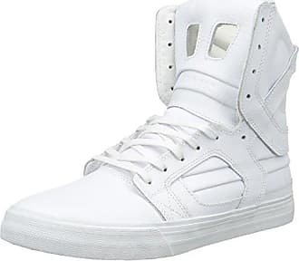 08021-091-M, Sneakers Basses Homme - Noir - Noir (Black/Black-White 091), 42 EUSupra