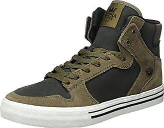 Supra - Zapatillas de Skateboarding de Otra Piel Unisex adulto, negro (negro), 38