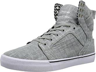SKYTOP S18218 Unisex-Erwachsene Sneaker, Grau (GREY - WHITE GYW), EU 42 (UK 7.5) (US 8.5) Supra
