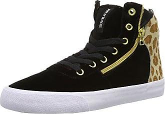 Supra Womens Cuttler Sw35006 Damen Sneaker, Schwarz (black/cheetah - White Bct), Eu 42 (uk 9) (us 10)