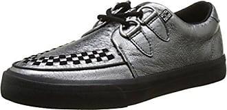 T.U.K. Unisex-Erwachsene VLK D Ring Creep Sneak Silver Glit Leath High-Top, Argent (Silver Leather), 38 EU