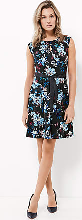Slinky dress with a floral print blue female Taifun DfF8vC