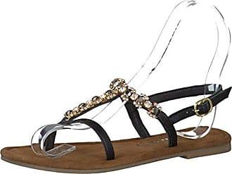 Tamaris 1-28110-28 Damen Zehentrenner Sandaletten Sandalen, Schuhgröße:38;Farbe:Schwarz