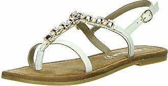 Tamaris Zehensteg Sandalen 1-28112-20 Metallic Zehentrenner Sandalette, Schuhgröße:40;Farbe:Türkis