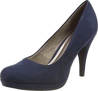 22471, Zapatos de Tacón para Mujer, Azul (Navy Leather), 37 EU Tamaris