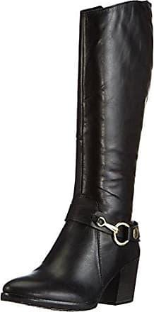 Street Fashion UK Damen Stiefel & Stiefeletten, Schwarz - Schwarz - Größe: 40