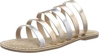 27143, Sandalias de Gladiador para Mujer, Dorado (Multi Metallic), 39 EU Tamaris