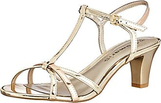 Womens 28329 T-Bar Sandals, Silver (Silver 941), 3 UK Tamaris