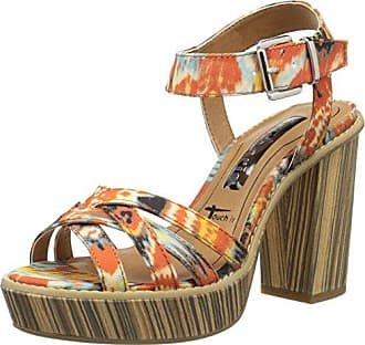 Damen Cangrejera Laminada Tacón Sandalen mit Knöchelriemen, Verschiedene Farben (Mehrfarbig), 39 EU Pedro del Hierro