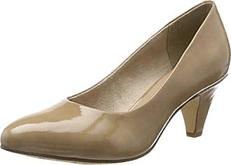 24428, Zapatos de Tacón para Mujer, Beige (Cream Patent 452), 42 EU Tamaris