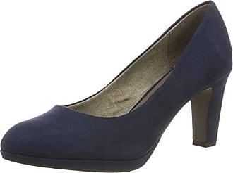 22306, Zapatos de Tacón para Mujer, Azul (Navy Suede), 37 EU Tamaris