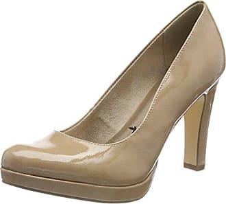 Tamaris 22453, Zapatos de Tacón para Mujer, Beige (Cream Patent 452), 37 EU