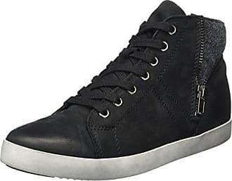 26299, Sneakers Hautes Femme - Noir (Black 001), 36 EUTamaris