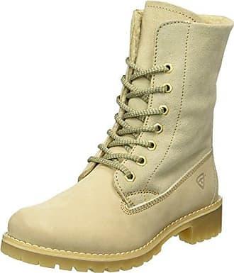 Tamaris Damen 25287 Combat Boots, Beige (Taupe/Silver), 37 EU
